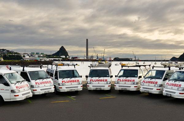 Gardiner Plumbing's fleet of vans